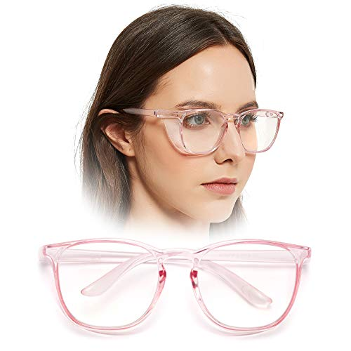 LianSan Oversize Anti-Fog Safety Goggles Anti-Dust Big Frame Anti-Blue Ray Safety Glasses for Men and Women LG103 Pink
