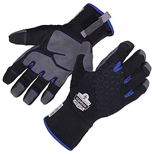 Ergodyne ProFlex 817WP Waterproof Work Gloves, Thermal Insulated, Touchscreen, Reinforced Palms, Black