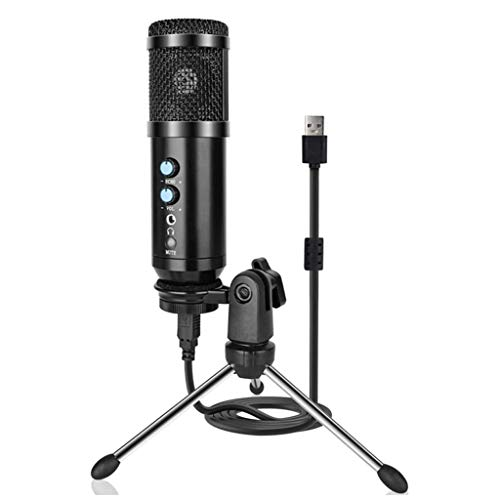 TJLSS Professional USB Condenser Microphone Audio Recording for PC Laptop Live Streaming