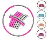 EVER RICH  FitnessWave Weighted Fitness Exercise Hula Hoop (Pink - Grey)