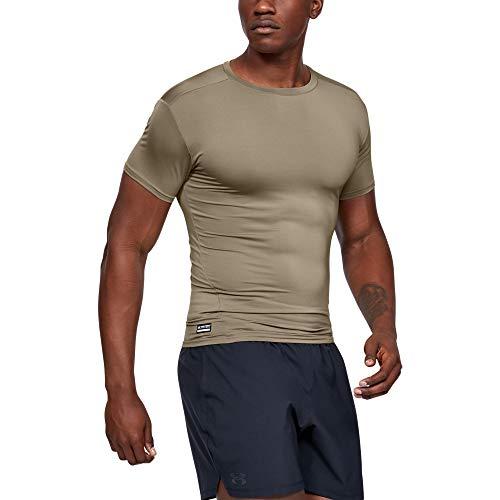 Under Armour Herren UA TAC HeatGear COMP Tee schnelltrocknendes Sportshirt, kurzärmliges und elastisches Funktionsshirt mit Passform Kompression, Braun, Large