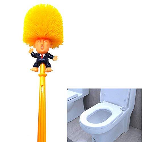 Section seven Trump WC-Bürste, witzige Toilettenbürste, macht die Toilette wieder toll, kreativer Badezimmer-WC-Schrubber, Commander in Crap