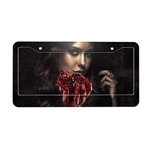 Vampire Diaries Aluminium License Plate+Plate Frame License Plate for Car,Excellent Novelty License Plates, 16x31.3cm