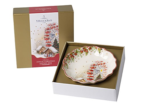 Villeroy & Boch Annual Christmas Edition 2016 Coppa dell Anno Piccola, Porcellana, Bianco, 37.4x17.4x10.1 cm