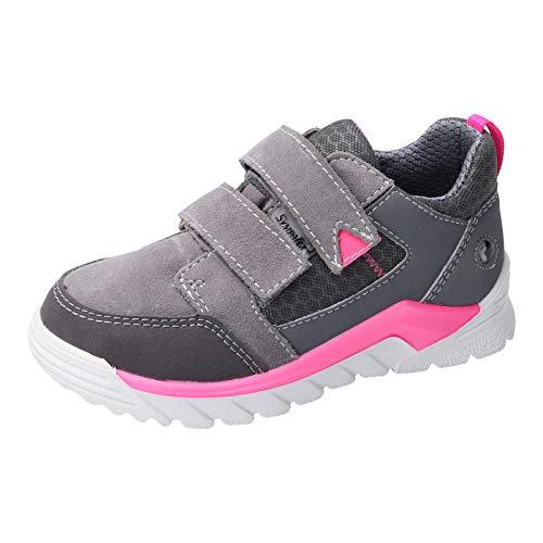 RICOSTA Kinder High-Top Sneaker MARV, Weite: Mittel (WMS),wasserfest, detailreich Freizeit leger sportschuh Klettschuh,Graphit/pink,34 EU / 2 UK