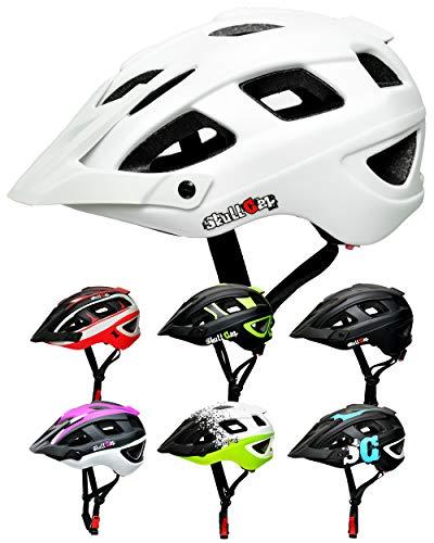 SkullCap® Rennradhelm, Rennradhelm für Erwachsene, Fahrrad Männer und Frauen, Größe L (59-61 cm), Farbe: Weiß