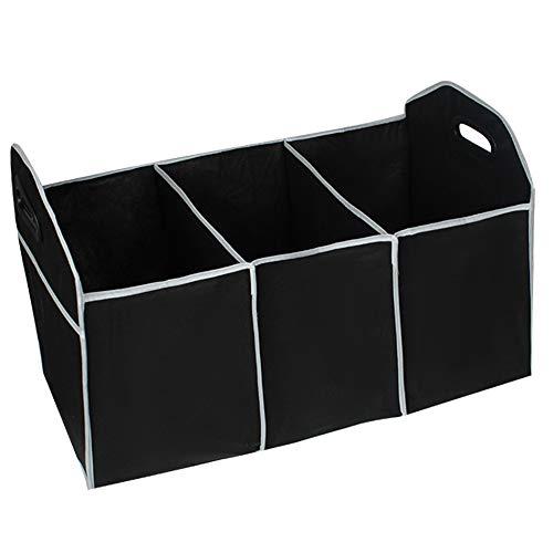TOPVORK Mehrzweck-Kofferraum-Aufbewahrungsbox Zusammenklappbar Vlies mit 3 Fächern Robuste Organizer-Tasche Große Kapazität