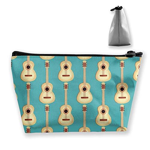 Multi-Functional Print Trapezoidal Storage Bag for Female Guitar Natural