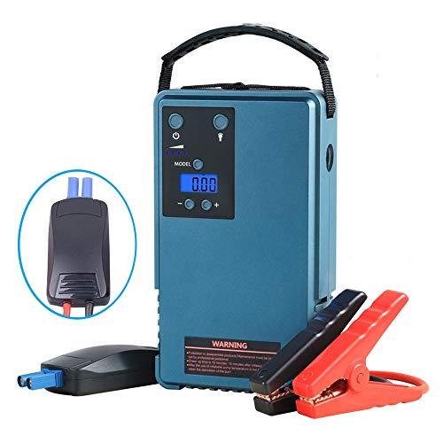 QCHEA Compresor de Aire con el Coche de Inicio y Pantalla LCD Soporte de la Bomba de Neumáticos, Portátil Dispositivo Multifuncional Integrado con Gran Capacidad de la batería
