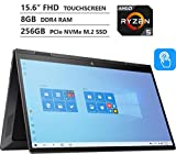 2020 Newest HP ENVY x360 2-in-1 Laptop, 15.6' Full HD Touchscreen, AMD Ryzen 5 4500U Processor up to 4.0GHz, 8GB Memory, 256GB PCIe SSD, Backlit Keyboard, HDMI, Wi-Fi, Windows 10 Home, Nightfall Black