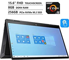 "15.6"" Full HD IPS Anti-glare Micro-edge WLED-backlit Touchscreen (1920 x 1080) Display AMD Ryzen 5 4500U 2.30GHz Hexa-Core Processor up to 4.0GHz, AMD Radeon Graphics with Shared Graphics Memory 8GB high-bandwidth RAM to smoothly run multiple applica..."