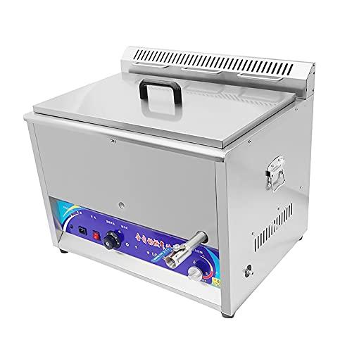 SBJ Freidora Comercial de 15L / 25L / 40L con Tapas, con Control de Temperatura, Acero Inoxidable, para Papas Fritas, Restaurante de Pescado, Cocina Casera
