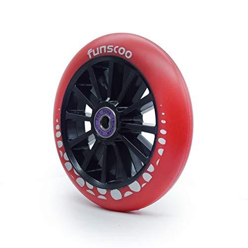 YGLONG Ruedas De Scooter Freestyle 2PCS 125mm * Rueda de Scooter de 24 mm/Ruedas de Patinaje de Velocidad en línea con Patines 125 Neumático Grande 125mm Rodas (Color : Red)
