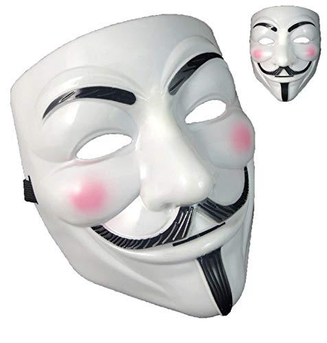 Yuciya Máscara de Halloween, Hombre Anónimo Máscaras Fawkes V para Máscaras de Vendetta Máscaras de Halloween
