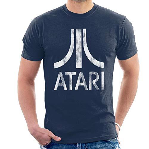 Atari Distressed White Logo Men's T-Shirt