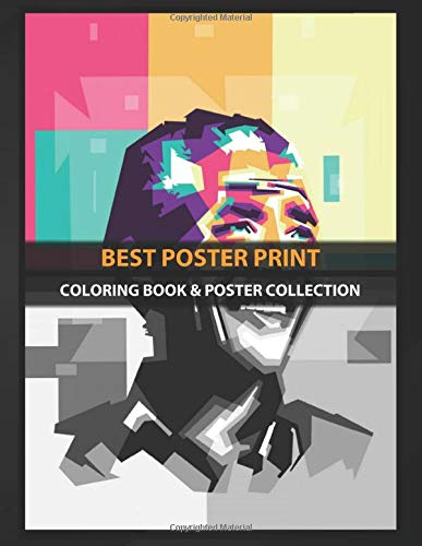 Coloring Book & Poster Collection: Best Poster Print Famous Anime & Manga