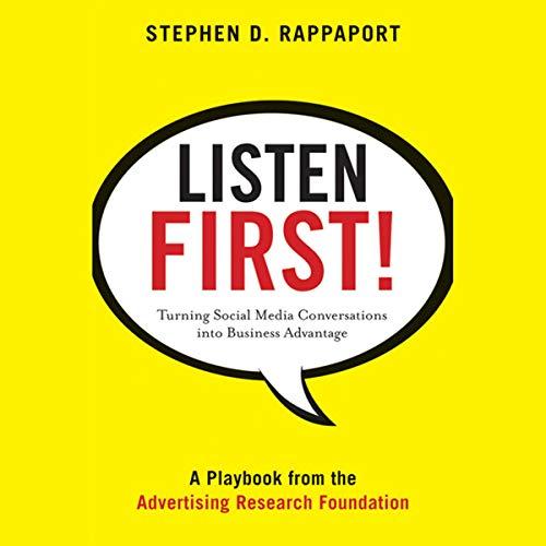 Listen First! audiobook cover art