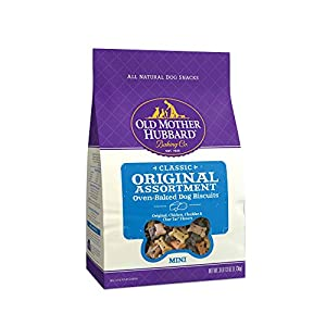 Old Mother Hubbard Classic Original Assortment Biscuits Baked Dog Treats, Mini, 3 lb 13 Ounce Bag