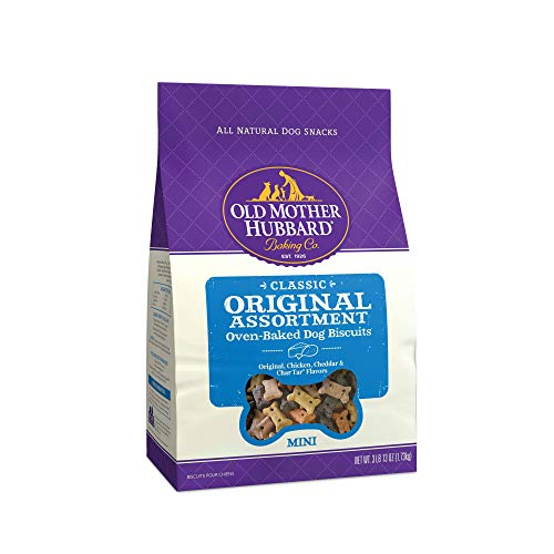 Old Mother Hubbard Classic Original Assortment Biscuits Baked Dog Treats, Mini, 3.8 Pound Bag