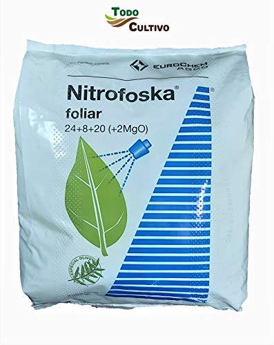 Nitrofoska Abono foliar 24-08-20. 5 Kilos. Primavera y