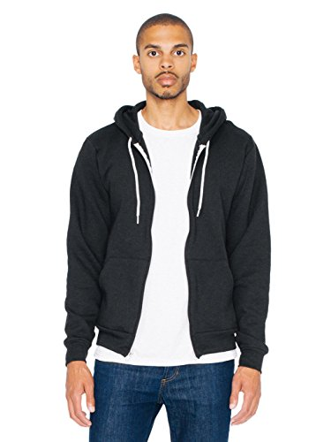 American Apparel Unisex Flex Fleece-Kapuzenpulli F497 - Black - M