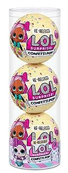 L.O.L Surprise! Confetti Pop 3 Pack Waves – 3 Re-Released Dolls Each with 9 Surprises