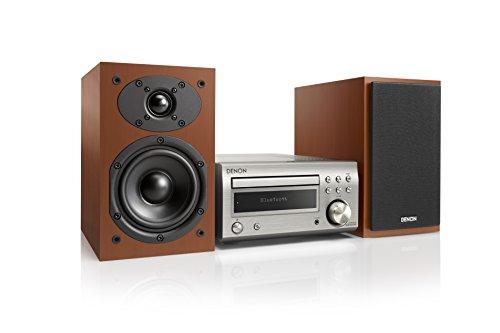 Denon D-M41 Minicadena de música para Uso doméstico Plata 60 W - Microcadena (Minicadena de música para Uso doméstico, Plata, Monótono, 1 Discos, 60 W, De 1 vía)