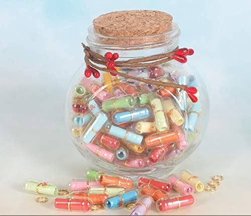 Hoocozi Capsule Letters Message in A Bottle Glass Decorative Bottles Birthday Presents Valentine's...