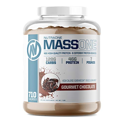 Massone Mass Gainer Protein Powder by NutraOne – Gain Weight Protein Meal Replacement (Gourmet Chocolate - 7 lbs.)