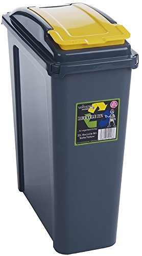 Pack Of Three 25 Litre Recycling Bins (Bin Lid Colour Will Vary)