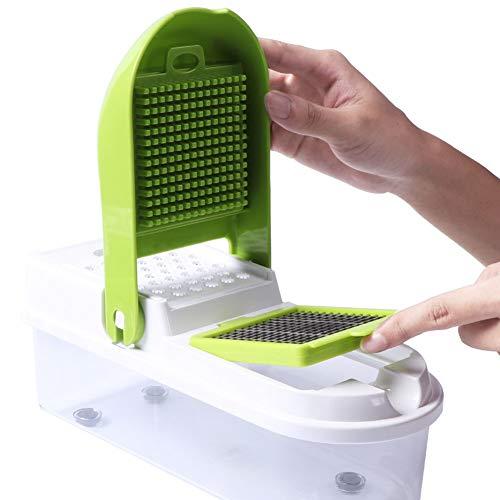 DIDIOI Küchengeräte, Multifunktionsgemüsezwiebel Shredder 8 Zerteilungsmessers, manuelle Kartoffelschäler Zerschneiden Maschine Küchengeräte Gemüsereißwolf
