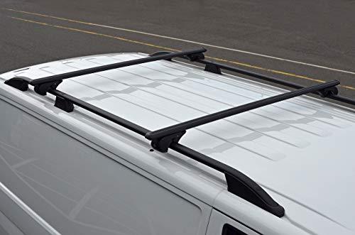 ALVM Parts & Zubehör Schwarze Querstangen für Dachreling für T5 Transporter 100 kg abschließbar