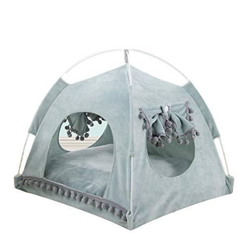 LVMEIHUA Summer Cat Bed, 4-corner Entertainment Cat Tent, 2-14kg Big Cat And Kitten Comfortable Bed (Color : Super soft green, Size : XL)
