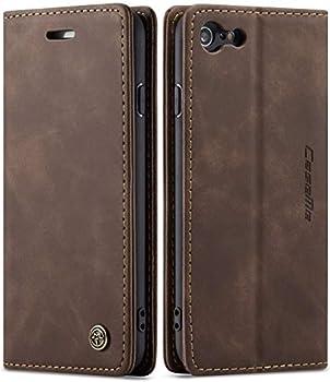 iPhone 6 Plus Wallet Case iPhone 6S Plus Leather Case SINIANL Folio Case with Kickstand Credit Card Holder Magnetic Closure Folding Flip Book Cover Case for iPhone 6 Plus iPhone 6S Plus - Coffee