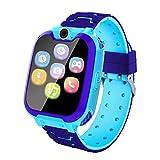 Vannico Reloj Inteligente niño, Smartwatch Llamada Bidireccional, Música, Cámara, Juegos, Alarma, Grabar Regalo para Niño Niña de 3-12 años(Azul)