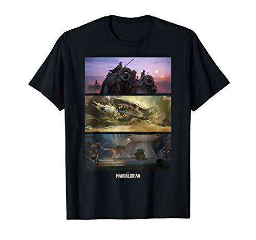 Star Wars: The Mandalorian Chapter 9 Concept Art Panels T-Shirt