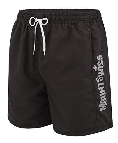 Mount Swiss Heren zwembroek Lenny met zijzakken achterzak & sleutelring I Modieuze mannen Shorts I Comfortabele zwemshorts in levendige kleuren maat S - 6XL