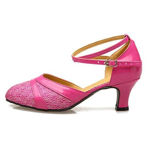 Binggong Damen Hoher Absatz Tanzschuhe Standard Latein Square Dance Shoes Frauen Geschlossen Abendschuhe Glitzer LateinischeBallettschuhe