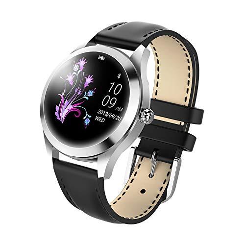 Watch, Smart Fashion Sport Pulsmesser Multifunktionsmessung Und Drehen Handgelenk Hellen Bildschirm wasserdichte Uhr, Bildschirmgröße, 1,04 Zoll, Damen Universal (Schwarz)