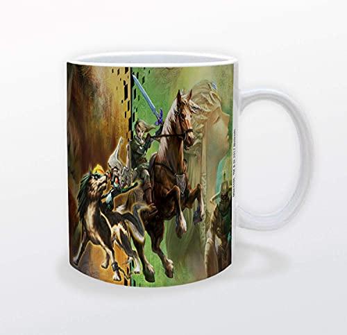 The Legend of Zelda Twilight Princess Videospiel Gamer Keramik Kaffeetasse Teetasse lustiges Geschenk 340 ml