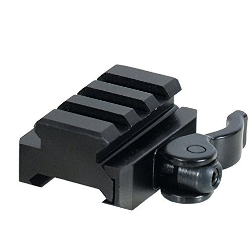 LVLING 3-Slot Universal QD Lever Lock Adaptor and Riser for Laser and Flashlight