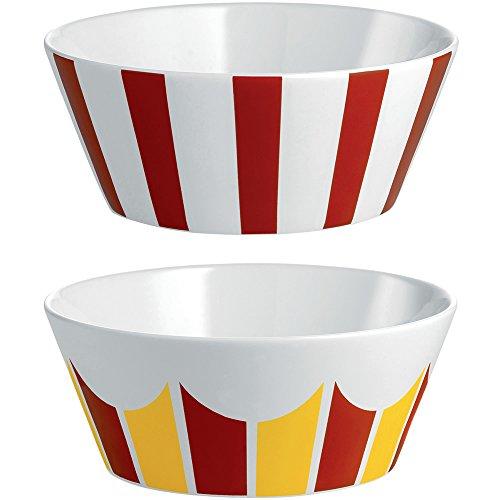 Alessi MW61S2 2 cirque, ensemble de deux bols en porcelaine tendre, multicolore, unité