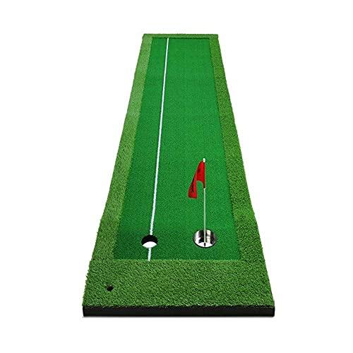 WBJLG Dispositivo de Ejercicio para Putt de Golf, Juego de Golf para Interiores, Greens de Oficina de práctica Auxiliar de Putting, Orificios Dobles Grandes y pequeños