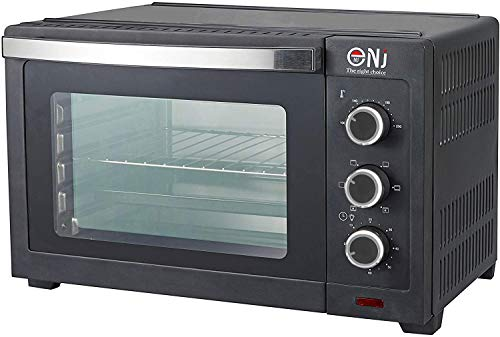 NJ-30B Mini Convection Oven 30L Electric Toaster Bake Kitchen Compact Timer 1600W Colors (Black)