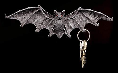 Figuren-Shop.de Fledermaus Schlüsselbrett mit roten Augen - Gothic