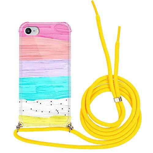 Funnycase Clear Funda con Mezcla de Patrones Compatible con Huawei P8 Lite 2017 Caso de Silicono Flexible para Proteger tu Telefono con Amarillo Cordón CBA116