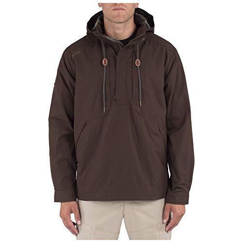 5.11 Tactical Herren Taclite Anorak Jacke, 100% Baumwoll-Twill, atmungsaktive Innenseite, Stil 78012, Herren, braun, Medium