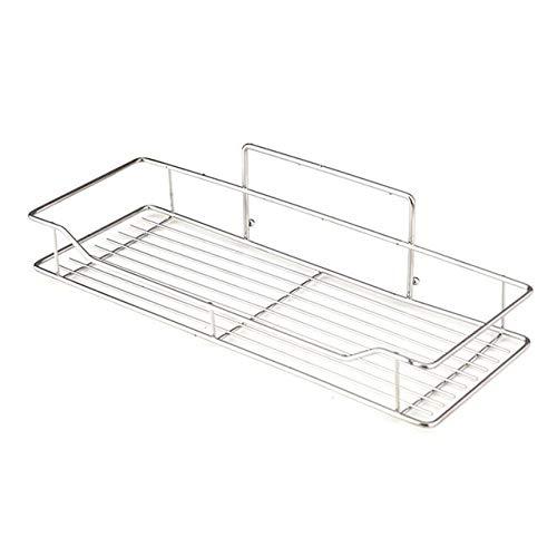 Badezimmer-Regal aus Edelstahl, stanzfrei, für Küche, Badezimmer, WC, Wandaufhängung, großes Badezimmer (Farbe: Silber)