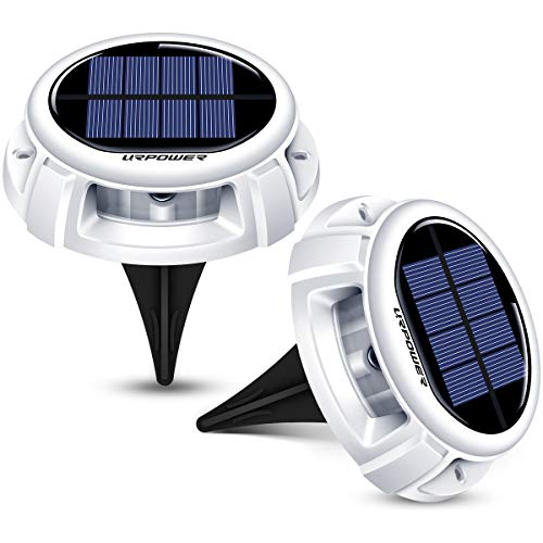URPOWER Solar Lights Waterproof Solar Lights Outdoor Solar Ground...