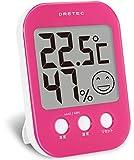 ドリテック デジタル温湿度計 オプシス ピンク 1個